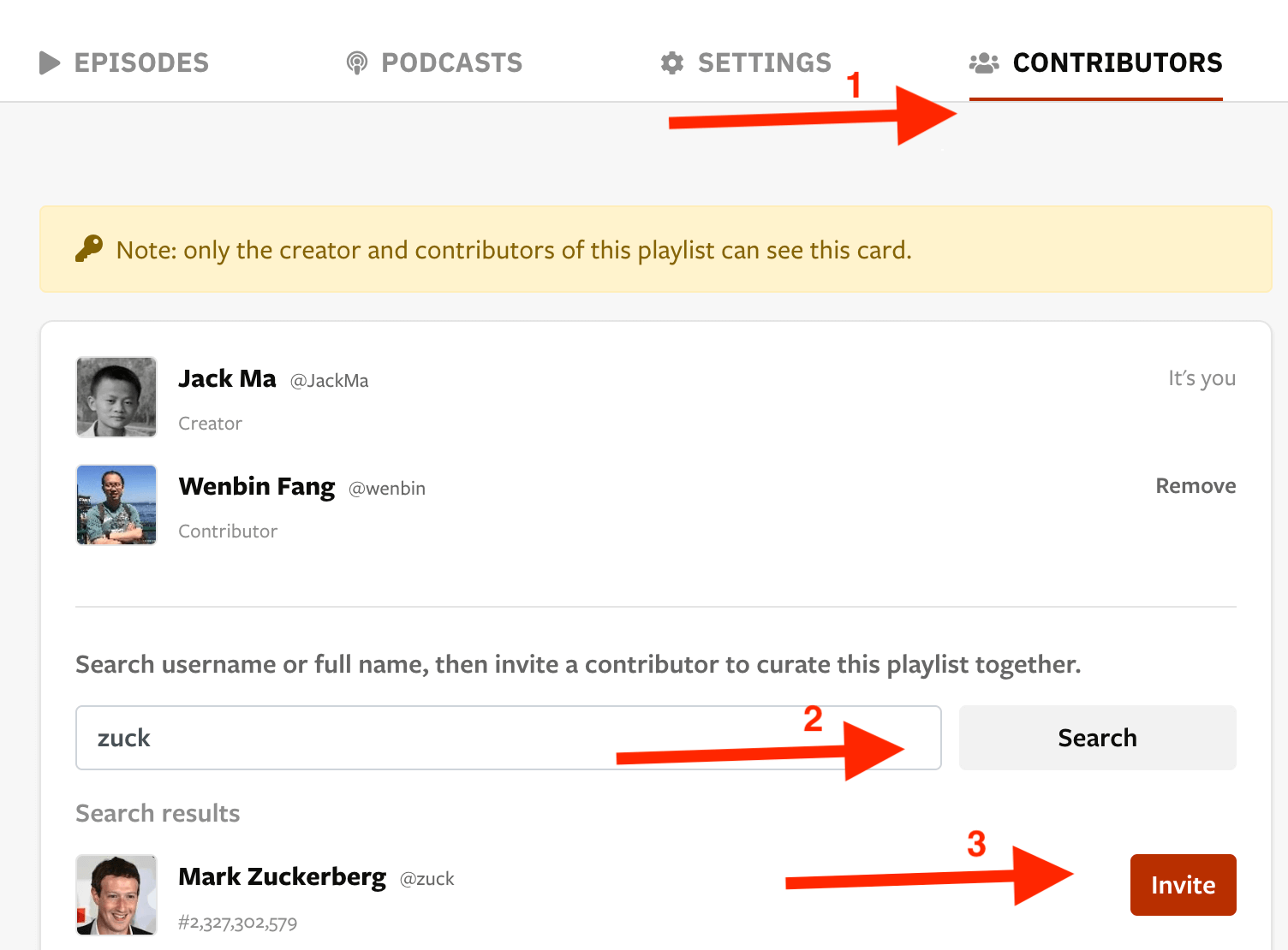How to add a contributor
